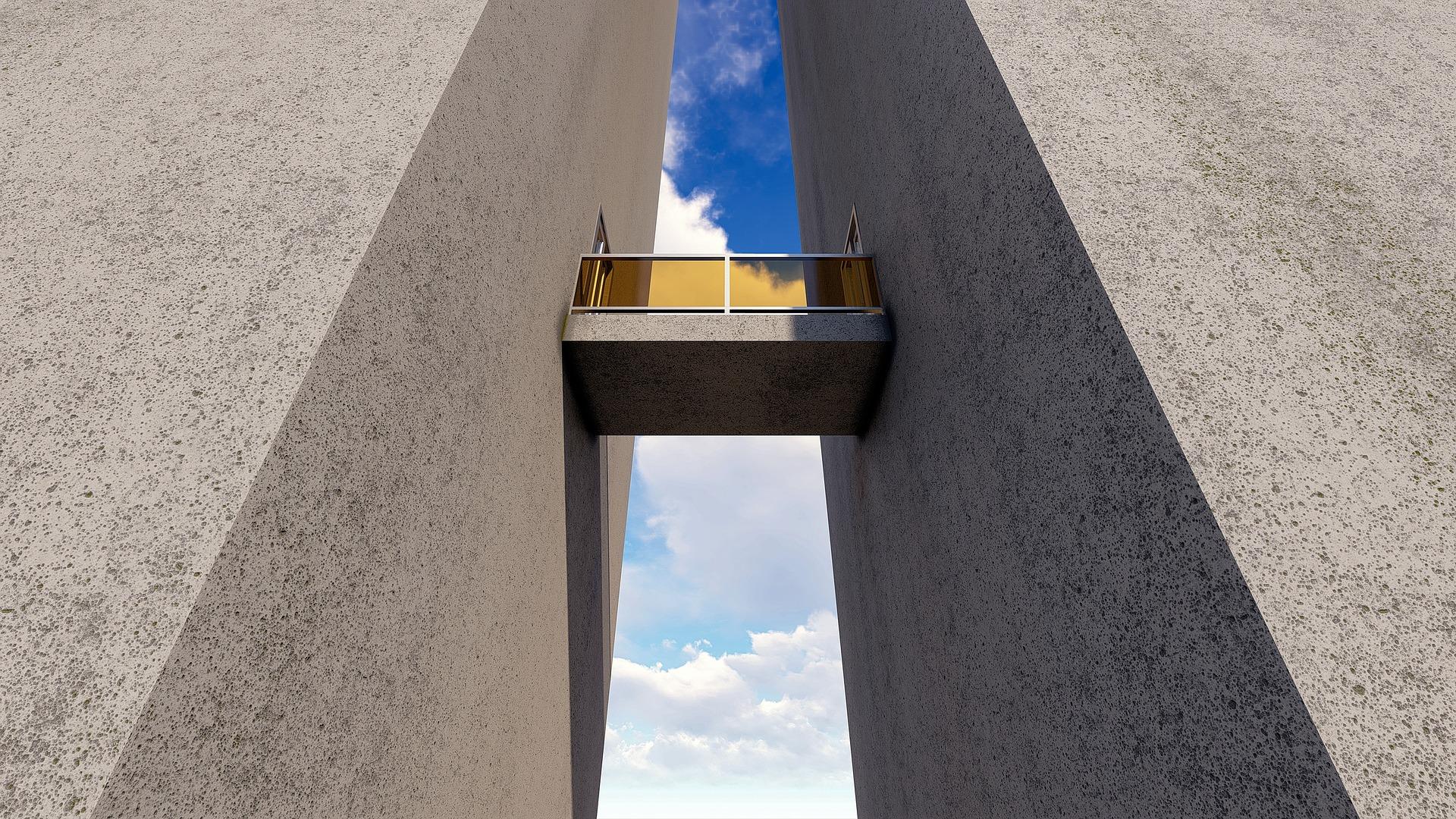 erkély két épület között
