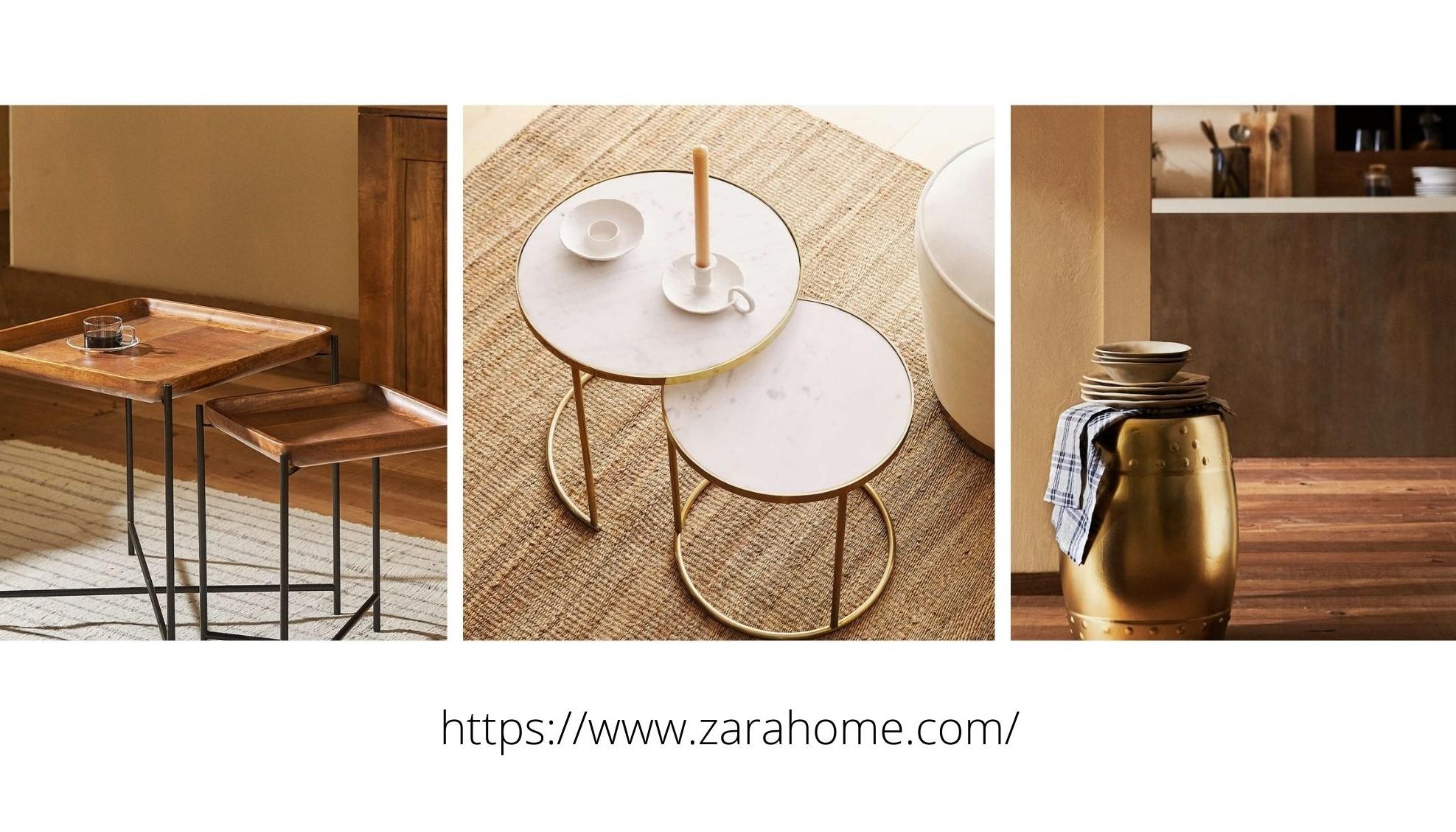három lerakodó asztalka barna, fehér színekben
