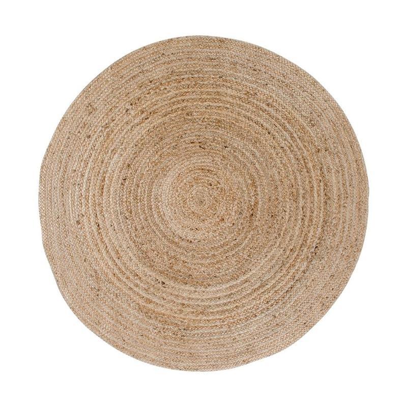 bézs kerek szőnyeg